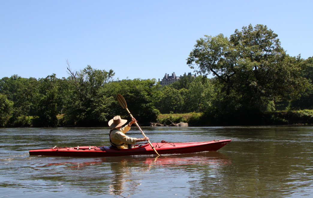Kayaking on the French Broad River in the Southeast.