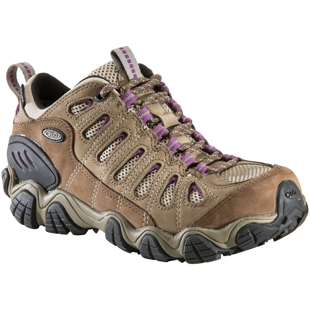 Waterproof Oboz women's Sawtooth low rise hiking shoes in violet.