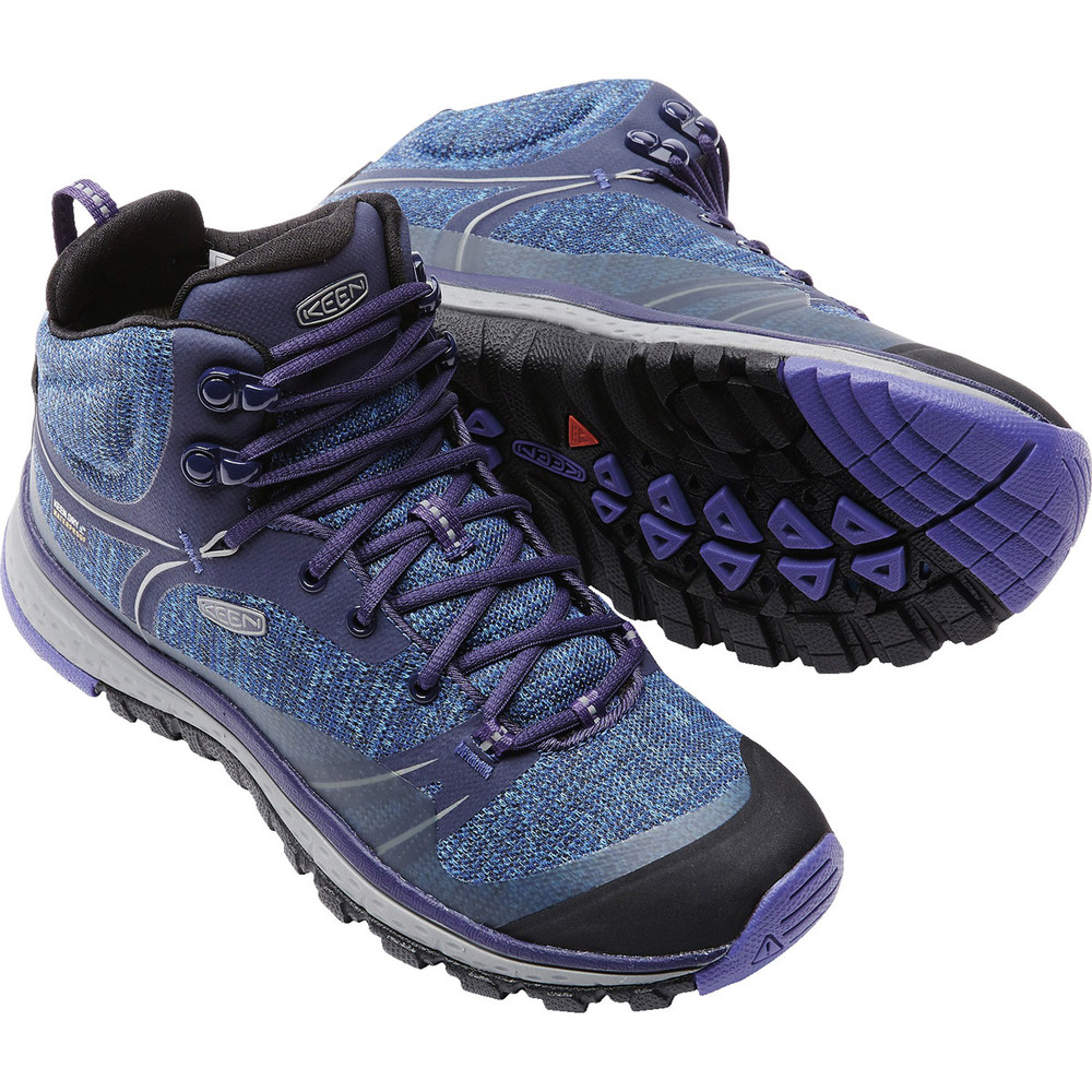 Stylish hiking boots, the Keen Women's Terradora Waterproof Mid in Astral Aura Liberty.