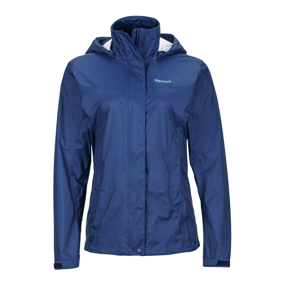 The Marmot Women's Precip jacket uses Nanopro. This one is the Precip Jacket in navy.