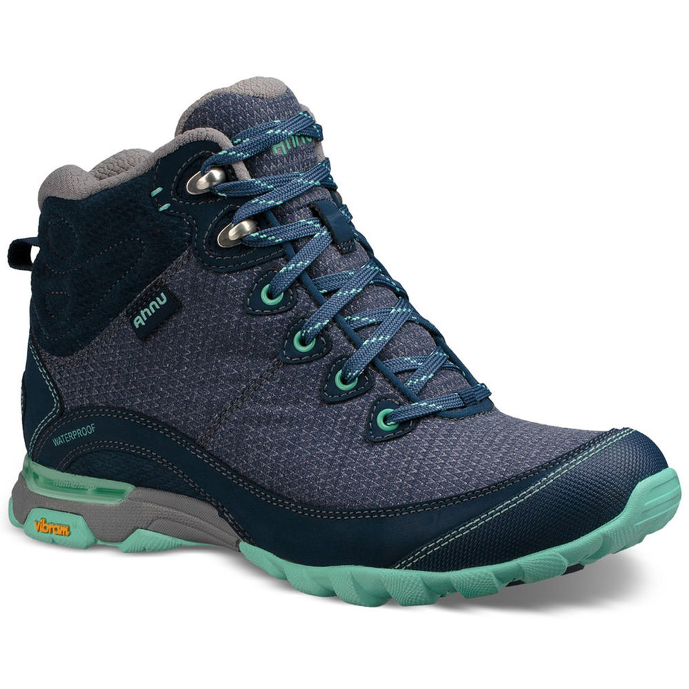 Stylish hiking boots, the Ahnu Women's Sugarpine II Waterproof Boot in insignia blue.