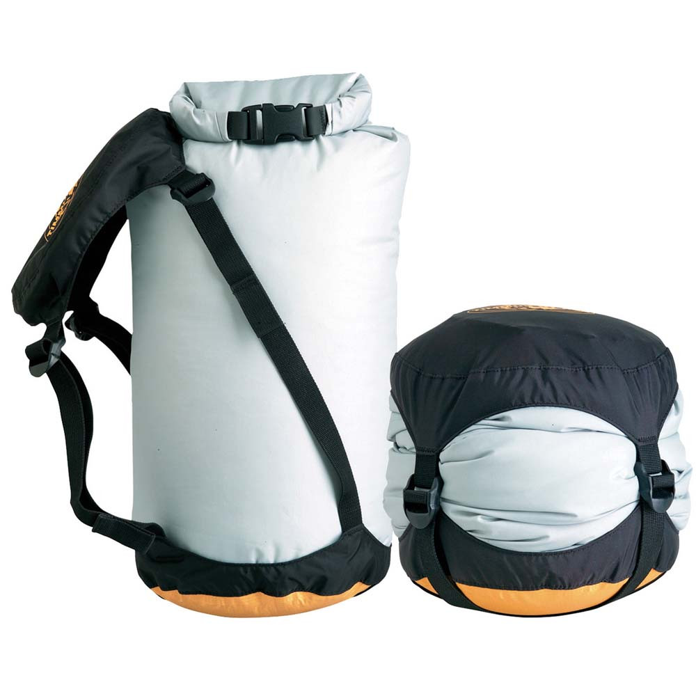 Sea to Summit eVent Compression Dry Sack. This dry sack compresses to minimize space and keep your items dry.